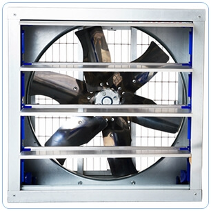 65x65 panjurlu çiftlik tipi kümes havalandırma fanları