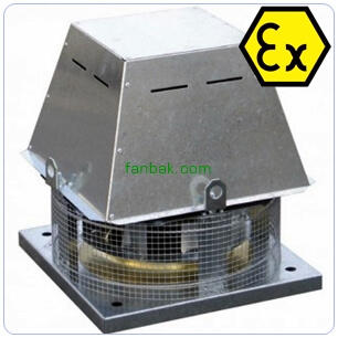 TCDH ATEX EX-PROOF RADYAL ÇATI TİPİ FAN